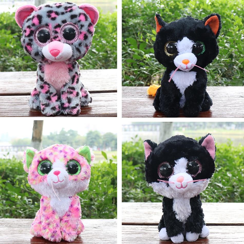 a499b51edb8 Detail Feedback Questions about Ty Beanie Boos Gray Cat Plush Toy Doll Baby  Girl Birthday Gift Stuffed   Plush Animals 15cm Big Eyes Stuffed Animals    Plush ...