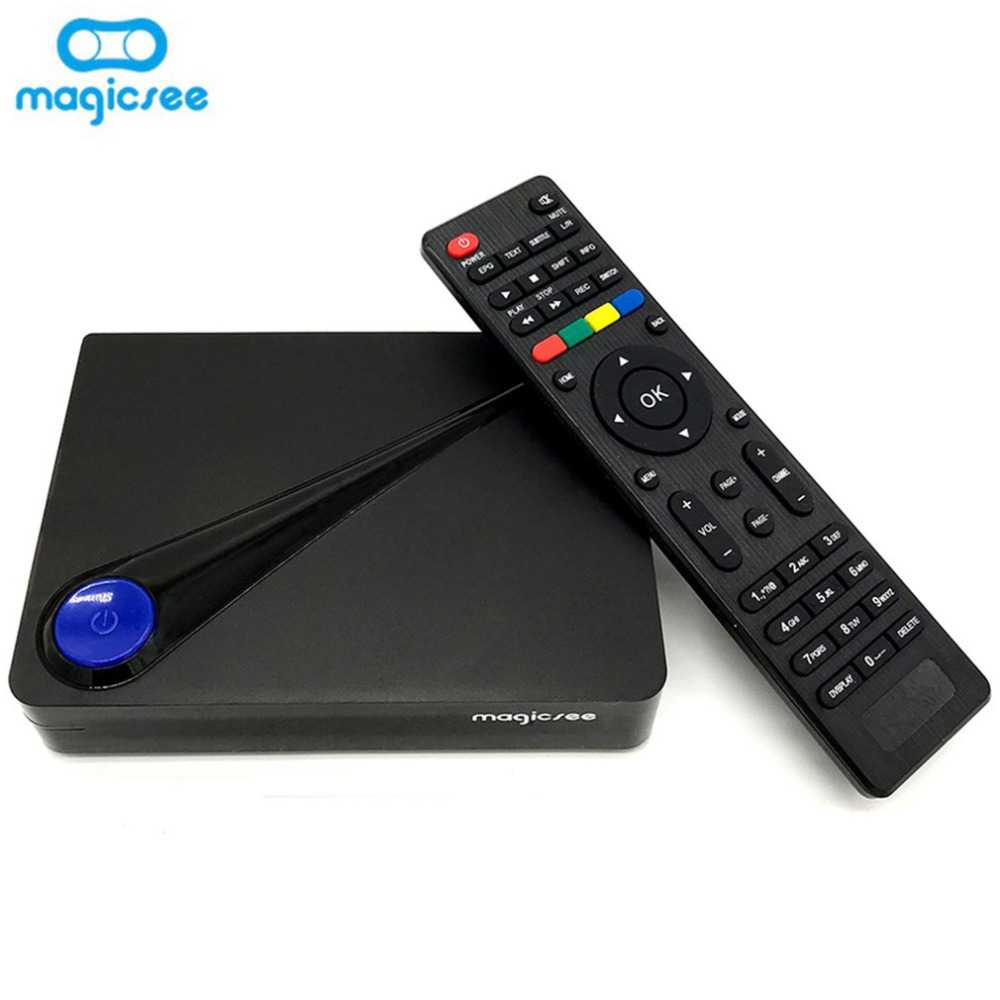 Magicsee C300 Pro Amlogic S912 Octa Core TV Box 2+16GB DVB-S2 DVB-T2 DVB-C Android 4K Smart TV Box 2.4G WiFi Smart Media Player smart tv приставка rombica smart t2 v01 c dvb t2 тюнером sbq tv805