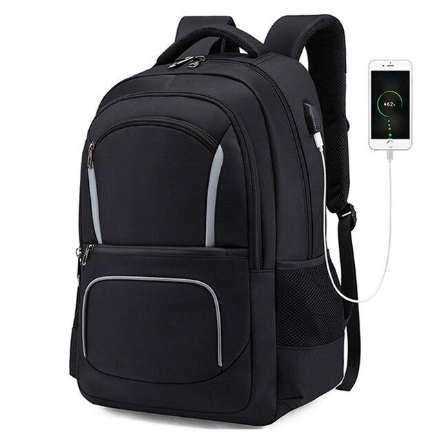 USB 2019 de Carregamento do Saco À Prova D' Água 17 polegada Laptop Homens Mochila Mochilas Adolescente Mochila Masculino saco de Viagem Bagpack Mochil