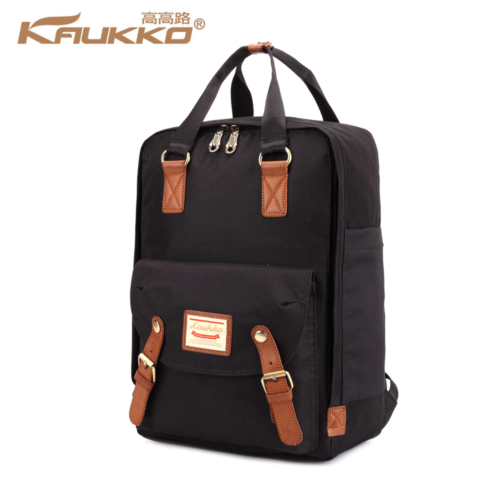 KAUKKO 14 inch Laptop Nylon Backpack with Top Handle Student School Bag Men Women Business Daypack Minimalist Style Rucksack цена 2017