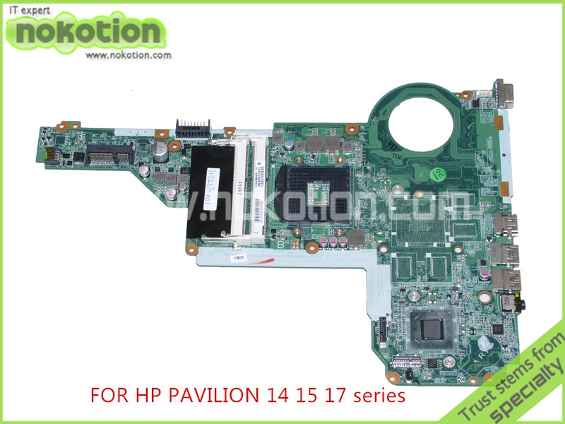 NOKOTION 713257-001 713257-501 DA0R62MB6E1 REV E for HP Pavilion 14 15 17 series laptop motherboard HD4000 graphics 574680 001 1gb system board fit hp pavilion dv7 3089nr dv7 3000 series notebook pc motherboard 100% working