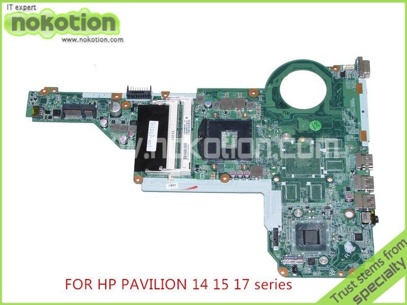 NOKOTION 713257-001 713257-501 DA0R62MB6E1 REV E pour HP Pavilion 14 15 17 série ordinateur portable carte mère HD4000 graphique