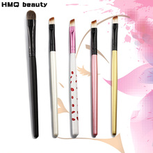 HMQ 5pcs Eyeshadow Eyeliner Lip Make Up Eye Brushes Set brush Soft Fiber Wood Handle Foundation Makeup Tool