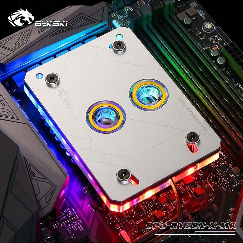Bykski CPU-RYZEN-X-MK RyzenAM3/AM3+/AM4 CPU Water Blocks, RBW Lighting System, Microwaterway Water Cooling Block 57mm planetary gearbox geared stepper motor ratio 30 1 nema23 l 112mm 4 2a