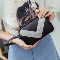 BAQI Women Wallets Clutch Purse Women Handbags Shoulder Bag 2019 Fashion Genuine Cow Leather Lady Crossbody Messenger Bag Girls
