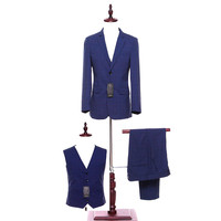 Blue Paid Mens Classic Suits Tailor Made Slim Fit Wedding Suits For Men Blazer Mens Formal