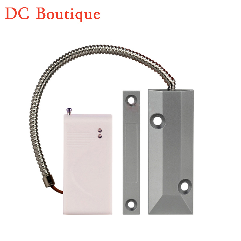 (1 pcs)Wireless Rolling Door magnet alarm 315 mhz auto coding magnetic switch security GSM alarm system accessories no battery forecum 433mhz wireless magnetic door window sensor alarm detector for rolling door and roller shutter home burglar alarm system