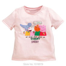 New 2018 Brand Quality 100% Cotton Summer Baby Girls t-shirt Children Clothing Kids Tees Short Sleeve t Shirt Baby Girls Clothes