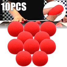 10 Pcs 4.5 Cm Schattige Rode Bal Super Zachte Spons Ballen Voor Magic Party Stage Trick Prop Clown Neus(China)