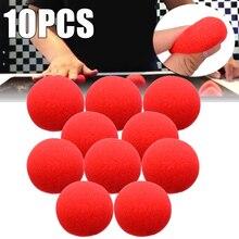 Esponja de palhaço para festa, esponja adorável para bola vermelha super macia de 4.5cm, esponja de palco, adereço de palhaço para festa mágica, 10 peças