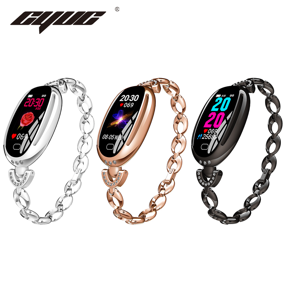 CYUC E68 Lady Smart Watch Heart Rate Monitor IP67 Waterproof Sport Fitness Women Bracelet 14 Days