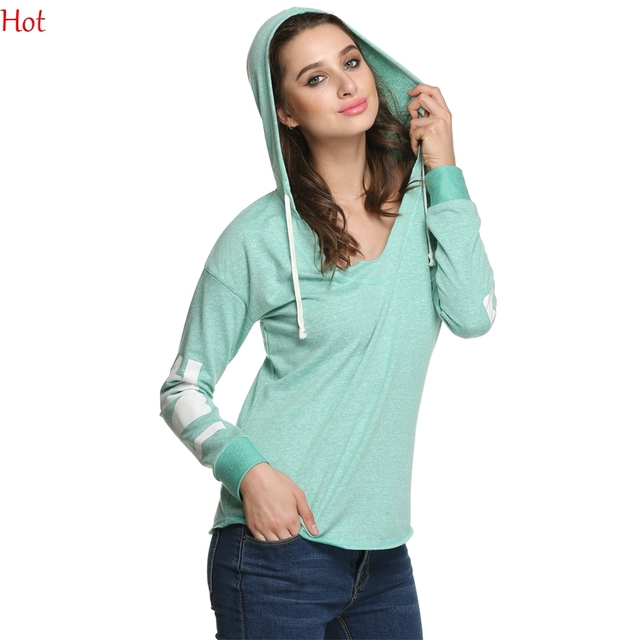 a85d1c5d398 New Casual Women Hoodies Love Print Plus Size Hooded Sweatshirt Spring  Autumn Pullover Sweats V Neck