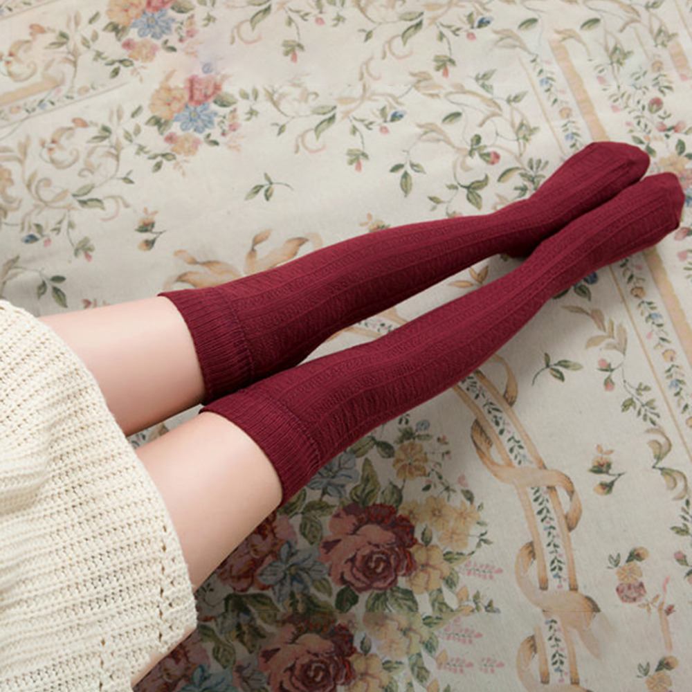 Knee Socks Women Cotton Thigh High Over The Knee Stockings For Ladies Girls 2020 Warm Long Stocking Sexy Medias