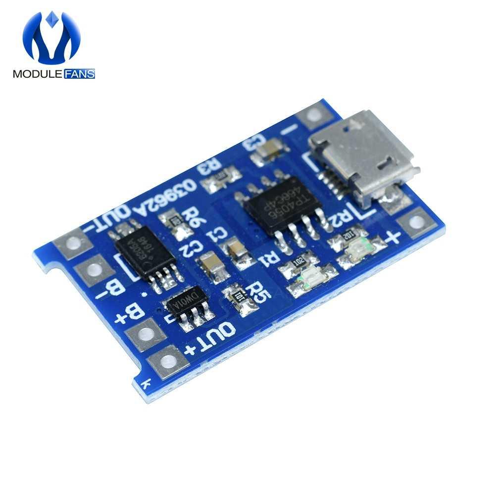 5ШТ Микро USB 5В 1А 18650 Литиевая Батарейка с Зарядной Платой, Защитный Модуль