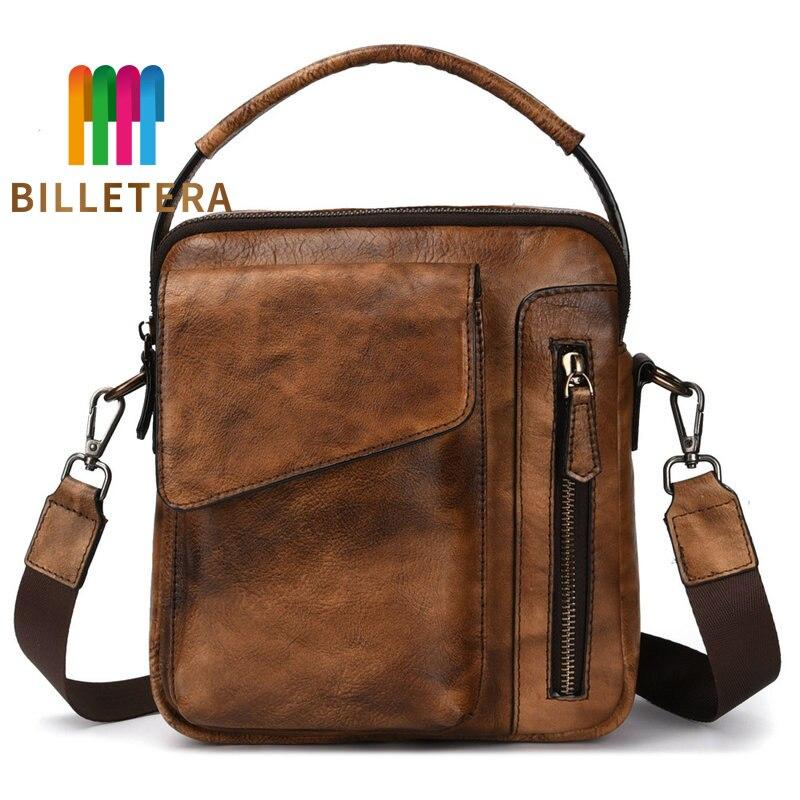 BILLETERA Retro Mens Bag Leather Cowhide Genuine Leather Mans Bag Shoulder Bag Shoulder BagBILLETERA Retro Mens Bag Leather Cowhide Genuine Leather Mans Bag Shoulder Bag Shoulder Bag