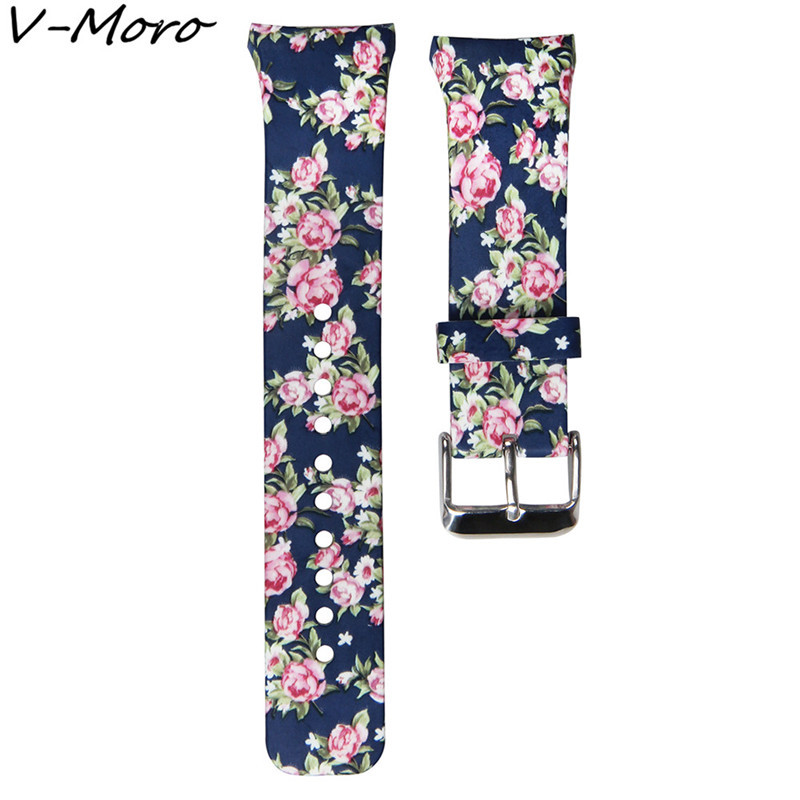 V-MORO New Durable Silicone Sport Printing Watch Straps Gear S2 Bands Bracelet Watch Strap For Samsung Gear S2 With Adapter Band large small size sport silicone replacement watch wrist strap bands for samsung gear fit 2 r360 watch band conjoined watch band