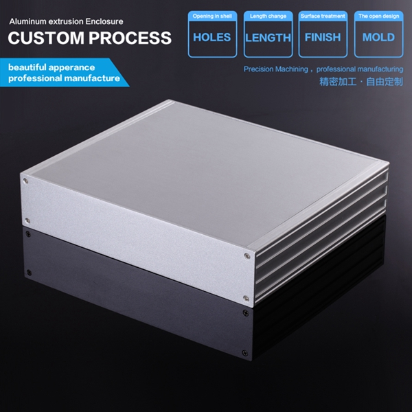 270*56*235 mm (w*h*l) DAC amplifier shell-aluminum chassis Instrumentation aluminum profile chassis / DIY industrial aluminum 3206 amplifier aluminum rounded chassis preamplifier dac amp case decoder tube amp enclosure box 320 76 250mm