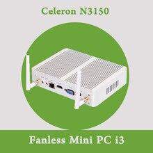 Mini PC Celeron N3150 Quad Core 1.6 ~ 2.08 ГГц VGA HDMI Дешевый маленький Компьютер Palm Desktop TV Box Windows 8.1 Intel Nuc безвентиляторный
