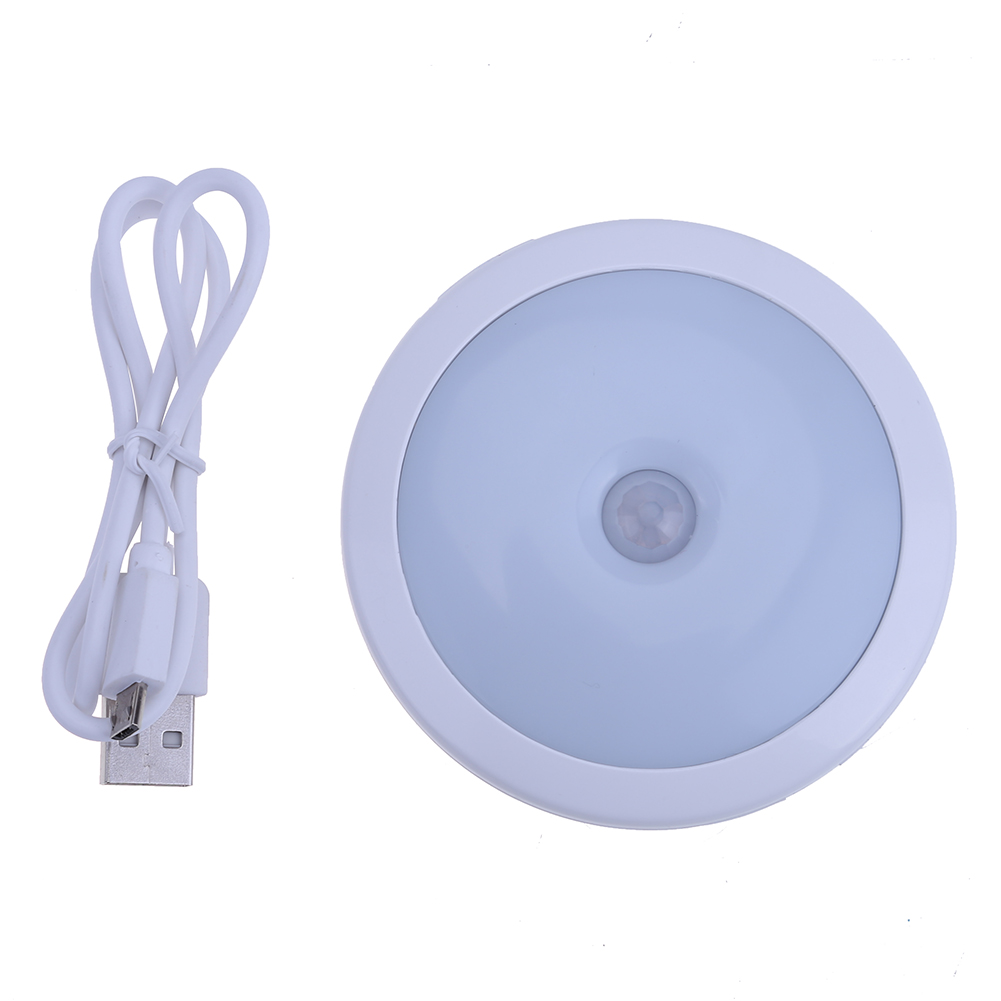 LED Motion Sensor Activated Night Light Closet Corridor Cabinet Induction Lamp Magnetic Wall Light USB Charging