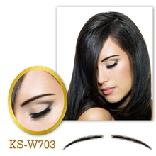 Neitsi Woman One pair Fake Eyebrows 100% Human Hair Invisible Lace Fake Eyebrows KS-W703 цены онлайн