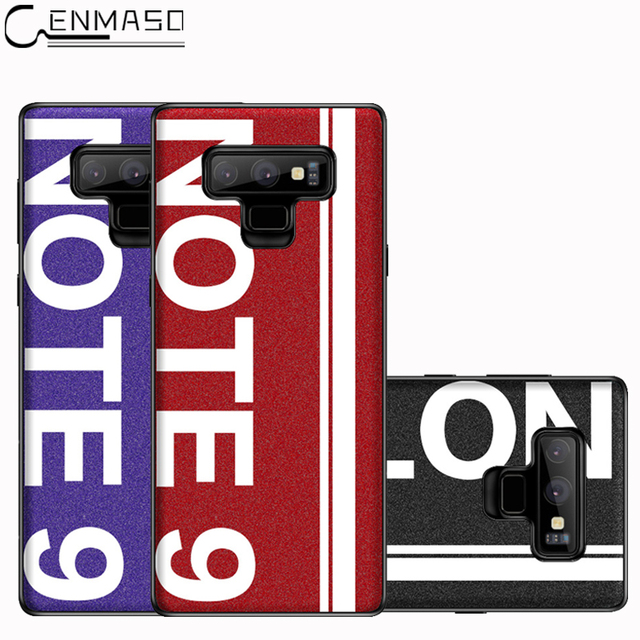 Samsung Note 9 Original Sports Street Culture Leather Soft Edge Protector Back Case Cover
