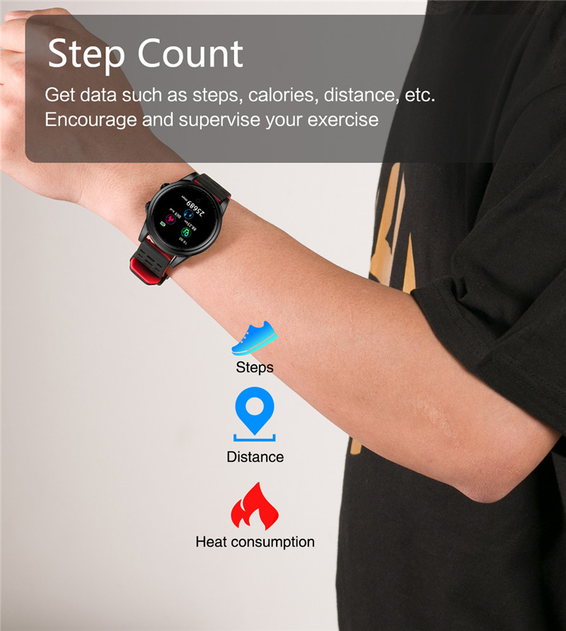Smart watch fitness waterproof for Android IOS Step Counter