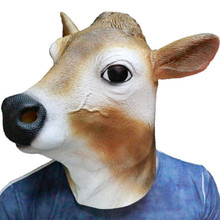 Hot New Halloween Latex Cow Mask Novelty Costume Party Fancy Dress Animal Masks