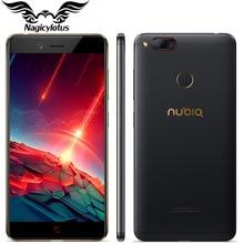 Оригинал ZTE Нубия Z17 мини LTE 4 г мобильный телефон 6 ГБ 64 ГБ 5.2 дюймов Snapdragon 653 двойной сзади Камера 13MP + 13MP отпечатков пальцев NFC