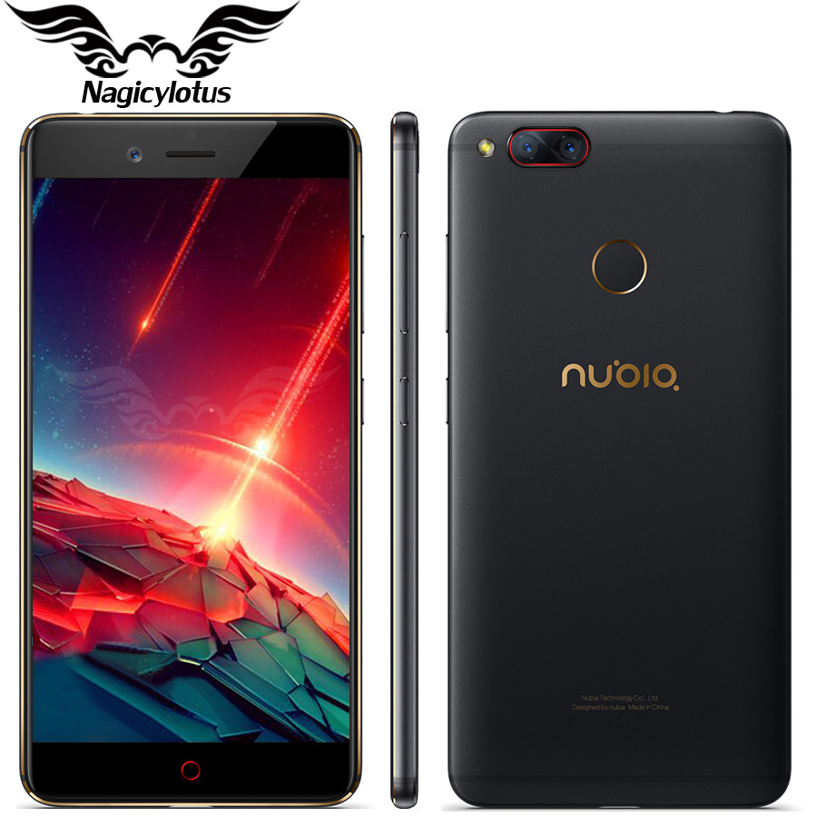 Original ZTE Nubia Z17 mini LTE 4G Mobile Phone 6GB 64GB 5.2 inch Snapdragon 653 Dual Rear Camera 13MP+13MP Fingerprint NFC