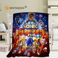 Sonic The Hedgehog Blanket Soft Sofa Bed Throw Blanket Kid Adult WarmCustom Blanket 58x80Inch50X60Inch40X50Inch
