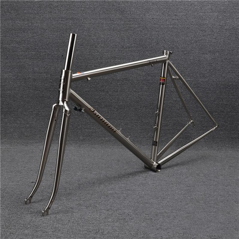 tsunami 520 with 4130 cr mo steel road bike frame fork 700c classic frameset brush