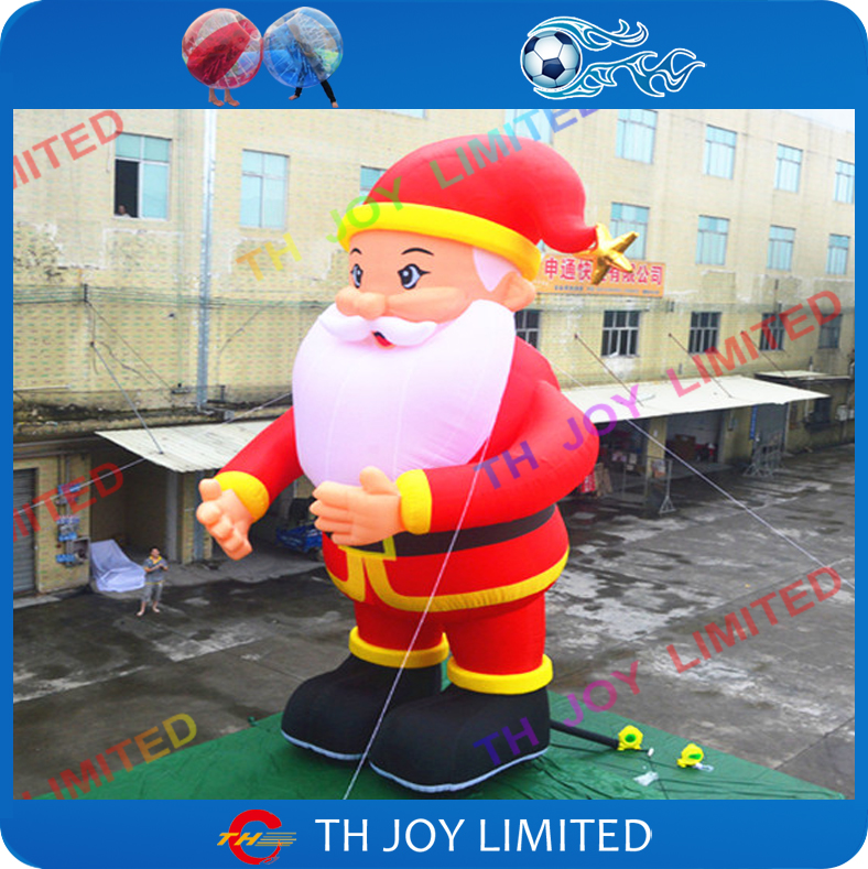6m20ft outdoor giant inflatable father christmaslowes christmas inflatable santa claus with led light - Lowes Inflatables