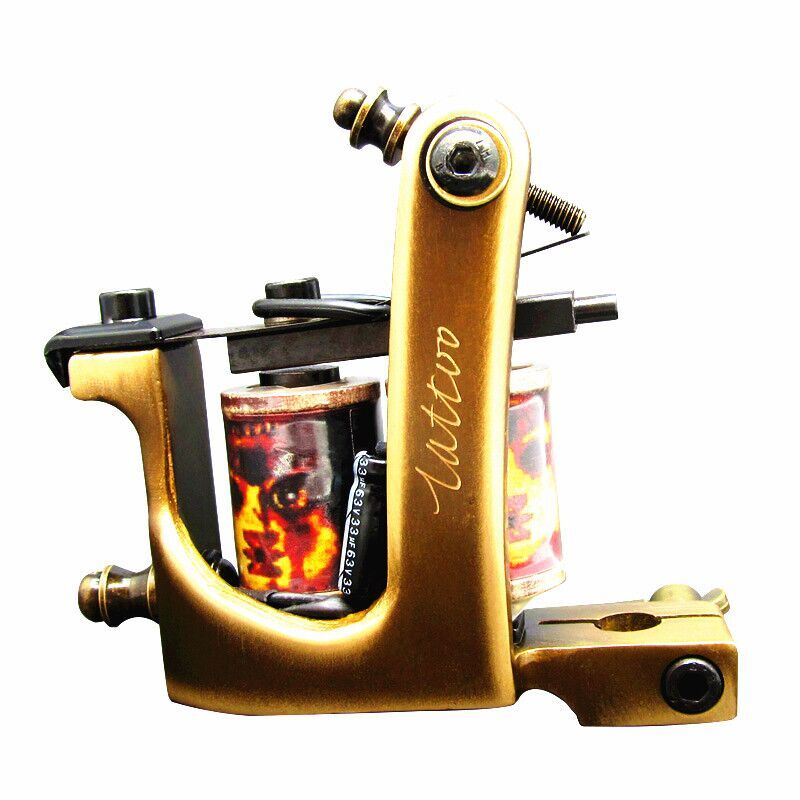ФОТО Free ship very good professional 8 wraps liner handmade Cast brass make gun frame Tattoo Machine Gun lower price by hand