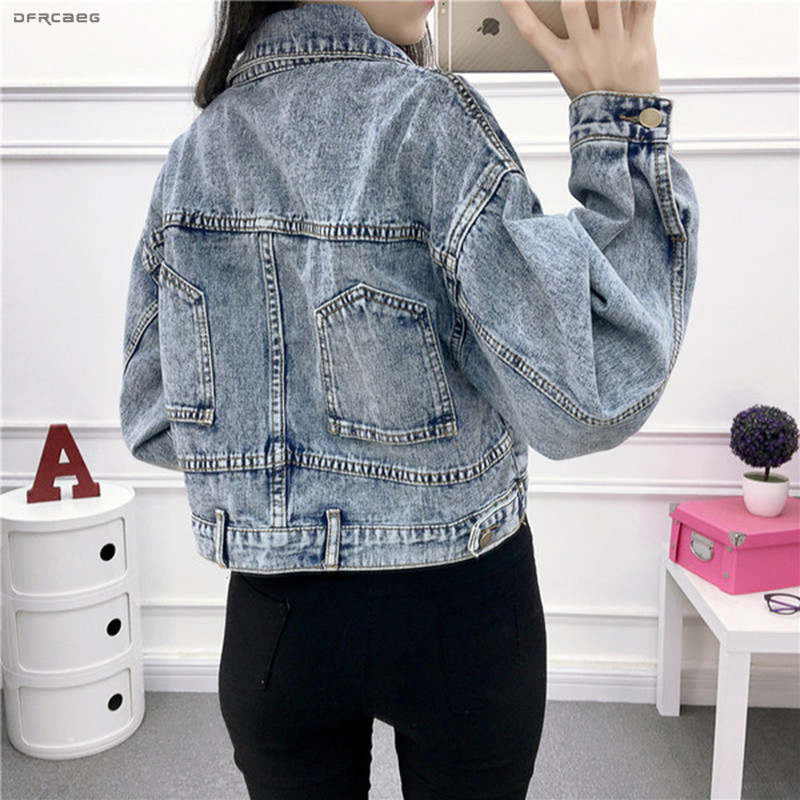 e5766e1b Cheap Retro de las mujeres chaqueta de Denim con remache de la primavera de  2019 Streetwear