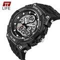 2016 TTLIFE large dial watch Analog Digital Watch Men Waterproof LED Solar Men Watches Men Sport Army Wrist Watch Relojes Hombre