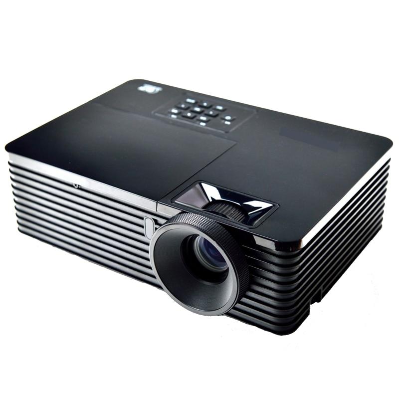 Factory sale 5500Lumens 3d projector dlp zoom lens 1.1X HD 1024x768 vga data show Digital portable overhead HDMI 1080P Proektor