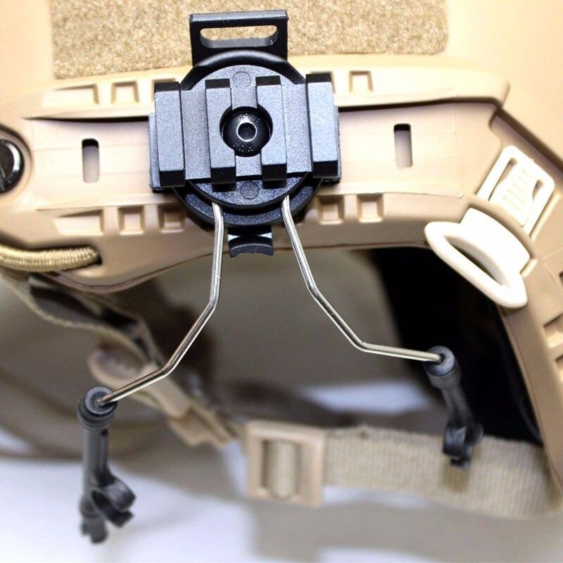 Z juego de adaptador de carril de casco táctico Z 046 auriculares Airsoft auriculares soporte de auriculares Wargame Paintball equipo de comunicación