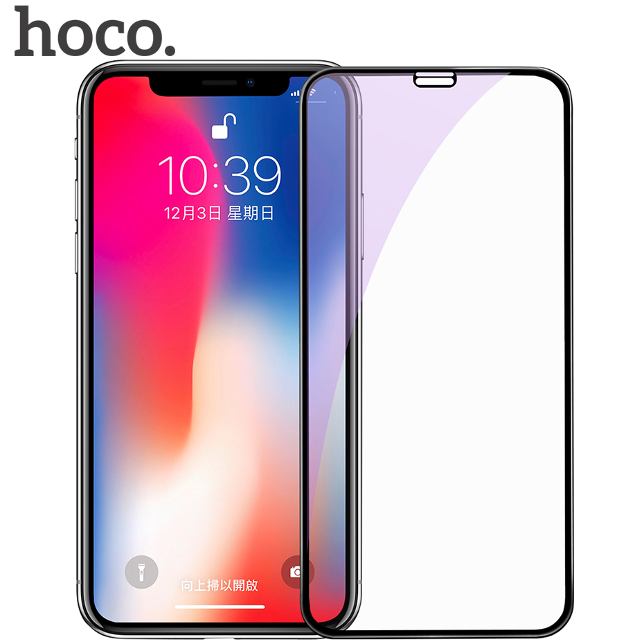 HOCO 6D Anti Blue Ray Tempered Glass Protective Film For iPhone X Ultra-thin Full Cover 9H Ultra Screen Protector for iPhone 10