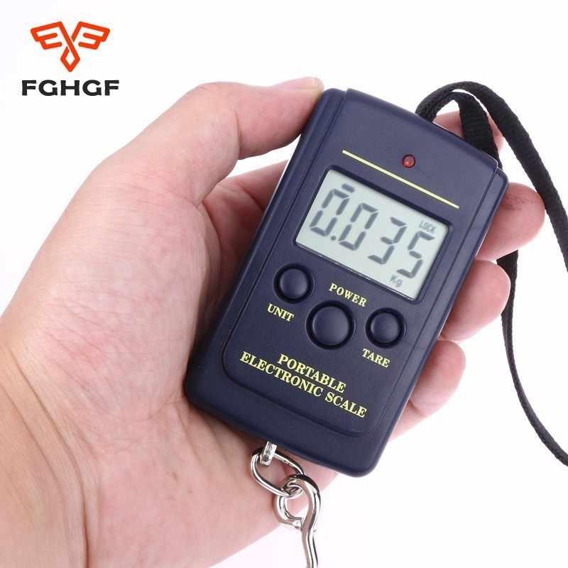40 кг/10 г цифровые ручные весы электронные ручные весы для рыбалки lcd карманные цифровые электронные шкала подвесного крючка багажа