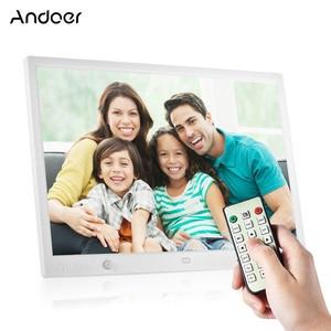 Image 1 - Andoer 15 אינץ גדול מסך LED דיגיטלי מסגרת תמונה שולחן עבודה אלבום HD לוח שנה פונקציות עם Motion זיהוי חיישן מגע מפתחות