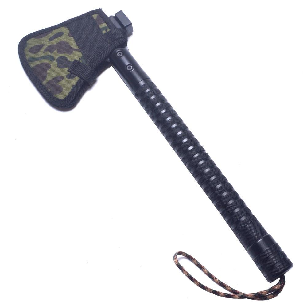 王海屋外取り外し可能キャンプ斧アルミ合金折りたたみトマホーク斧多機能サバイバル手斧とナイフ  グループ上の ツール からの 斧 の中 2
