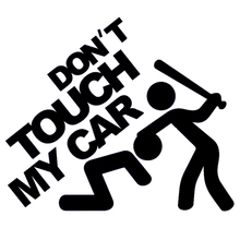 """Don't Touch My Car!"" Funny Vinyl Decal JDM Dub Euro For Car Rear Windshield Truck SUV Bumper Door Motorcycle Humour Sticker"