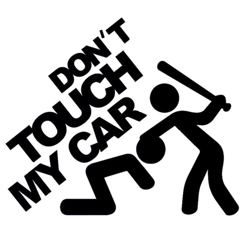 """13 * 11cm """"Nepieskarieties manai automašīnai!"""" Smieklīgi vinila uzlīmes JDM Dub Euro par automašīnas virsbūves logu motocikla humora auto uzlīmēm melnas / sudraba krāsas"""