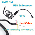 2016 Nueva 7mm Lente 3 M USB Endoscopio IP67 Impermeable de la Cámara Endoscopio 6 LED Mini Cámara Android Teléfono Andorid endoscopio