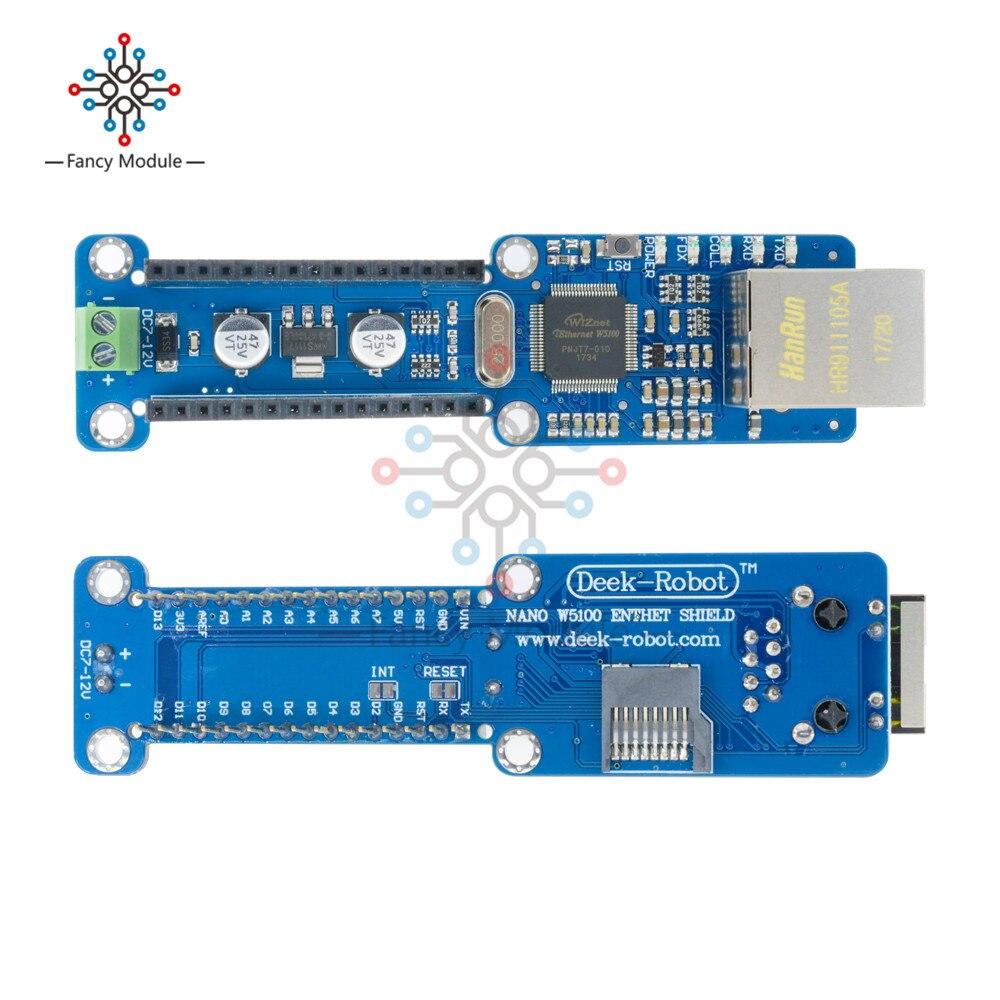 NANO W5100 Ethernet Shield Rete Scheda di Espansione per Arduino Nano V3.0 TOP
