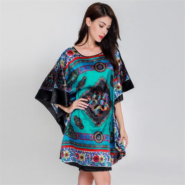 Plus Size Black Women's Summer Lounge Robe Lady New Sexy Home Dress Rayon Nightgown Large Loose Sleepwear Bathrobe Gown S002-B
