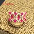 925 sterling anel de prata com rubi naturais 100% das mulheres Vermelho de luxo generoso Fine jewelry