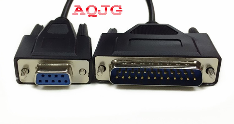 New DB9 Cable DB9 Female to DB25 Pin Serial DB25 Cable DB9/DB25 Adapter Computer Accessories Cable Drop Shipping Wholesale AQJG new usb 2 0 to rs232 serial converter 9 pin adapter for win7 8 wholesale drop shipping