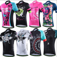 2016 CHEJI women bike jerseys MTB team cycling clothing ropa ciclismo bicycle jersey blue butterfly pink jersey bike wear