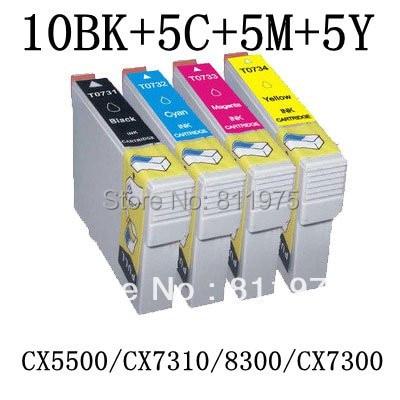 25PCS Free shipping T0731N T0734N compatible ink cartridge For EPSON Stylus TX100 TX101 TX200 TX209 TX110